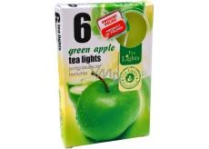 Tea Lights Green Apple s vôňou zeleného jablka vonné čajové sviečky 6 kusov