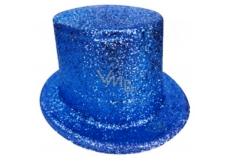 Cylinder karnevalový 25 cm modrý