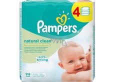 Pampers Natural Clean vlhčené obrúsky 4 x 64 kusov