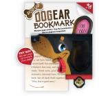 If Bookmark Dogear Záložka psí uši Jezevčík 98 x 5 x 90 mm