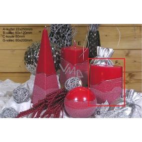 Lima Artic sviečka červená elipsa 110 x 125 mm 1 kus