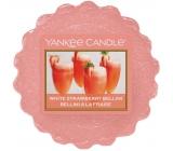Yankee Candle White Strawberry Bellini - Biely jahodový koktail vonný vosk do aromalampy 22 g