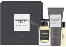 Abercrombie & Fitch Authentic Man toaletná voda pre mužov 100 ml + toaletná voda 15 ml + sprchový gél 200 ml, darčeková sada