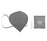 Healfabric Respirátor ústnej ochranný 5-vrstvový FFP2 tvárová maska šedá 1 kus