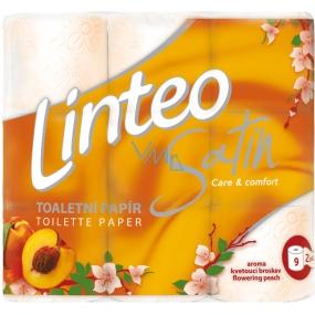 Linteo Satin Care and Comfort toaletný papier Broskyňa 2 vrstvový 180 útržkov 9 kusov