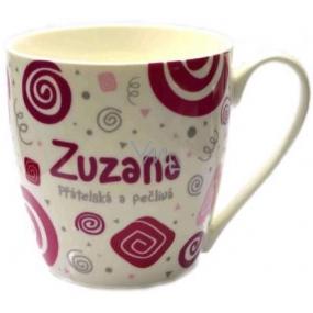 Nekupto Twister hrnek se jménem Zuzana růžový 0,4 litru