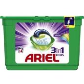 Ariel 3v1 Color gélové kapsule na pranie bielizne chráni a oživujú farby 14 kusov 418,6 g