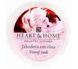 Heart & Home Jahodová zmrzlina Sójový prírodný voňavý vosk 27 g