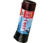 Alufix Economy Vrecia na odpad zaťahovacie čierne 120 litrov, 70 x 100 cm, 7 kusov