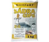 Kittfort Sádra Gips plastická 2v1 malířská sádrová stěrka + tmel 1 kg