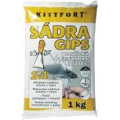 Kittfort Sadra Gips plastická 2v1 maliarska sadrová stierka + tmel 1 kg