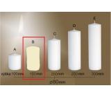 Lima Gastro hladká sviečka slonová kosť valec 80 x 150 mm 1 kus