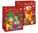 Ditipo Disney Dárková papírová taška pro děti L Medvídek Pú Sweetest Holiday 26,4 x 12 x 32,4 cm