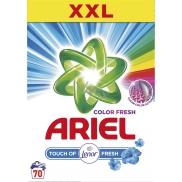 Ariel Fresh Touch of Lenor Color Prací prášok univerzálne, chráni proti vodnému kameňu, s vôňou Lenor 70 dávok 5,25 kg krabica