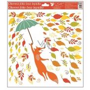 Room Decor Okenní fólie podzimní zvířátka 33 x 30 cm podzimní zvířátka Liška