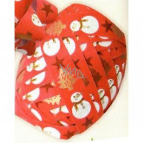 Nekupto Klubíčko Luxus červenej, snehuliak, hviezdy, stromčeky 1 cm x 10 m KB 217 30