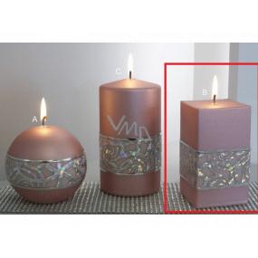 Lima Hologram sviečka ružová hranol 65 x 120 mm 1 kus