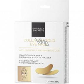 Gabriella salva Collagen Gold Eye Mask kolagénová očná maska v vankúšikoch s harmančekom a esenciálnymi olejmi 5 párov