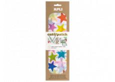 Apli Cut & Patch papier na servítkovú techniku Hviezdy farebné 30 x 50 cm 3 kusy