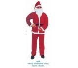 Kostým Mikuláš / Santa pre dospelého, nohavice, blúzka, opasok, fúzy, čiapky veľkosť L