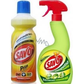 Savo Prim Dezinfekčný čistiaci prostriedok 1 l + Savo Kúpeľňa 500 ml