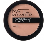 Gabriella salva Matte Powder SPF15 púder 04 Light Sand 8 g