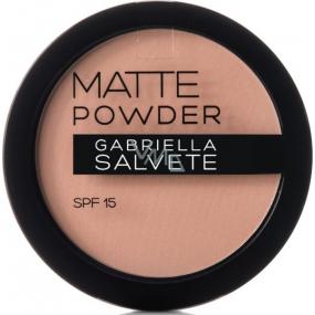 Gabriella salva Matte Powder SPF15 púder 04 Light Sand 8 g