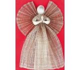 Anděl z pytloviny, široká sukně hnědý 34 cm