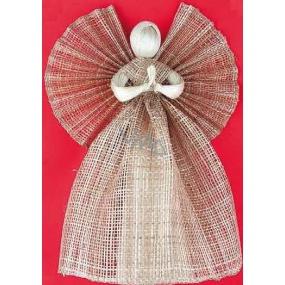 Anjel z vrecoviny, široká sukňa hnedý 34 cm