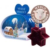 Moje Vánoční hvězda punč dárkové mýdlo z ovčího mléka 13 g