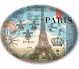 Michel Design Works Mydelnička sklenená oválna Paríž 16 x 12 cm