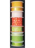Nekupto Stuha látková zelená biele bodky 3 mx 25 mm