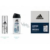 Adidas Pre Invisible & adiPURE antiperspirant deodorant sprej pre mužov 150 ml + sprchový gél 250 ml, kozmetická sada