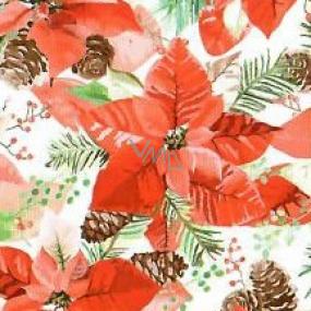 Nekupto Papierové obrúsky 3 vrstvové 33 x 33 cm 20 kusov Vianočná hviezda