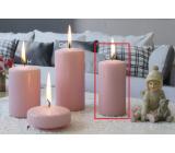 Lima Ice pastel sviečka ružová valec 50 x 100 mm, 4 kusy