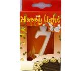 Happy light Dortová svíčka číslice 7 v krabičce