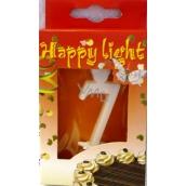Happy light Tortová sviečka číslica 7 v krabičke