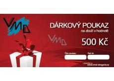 Darčekový poukaz VMD Drogéria na nákup tovaru v hodnote 500 Sk
