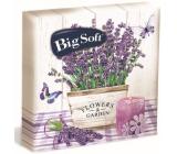 Big Soft Lavender papierové obrúsky 2 vrstvové 33 x 33 cm 20 kusov