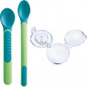 Mam Feeding Spoons & Cover 2 fázová kŕmiacej lyžička s ochranným krytom rôzne farby 6+ mesiacov 1 sada
