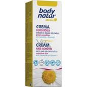 Body Natur Sensitive Harmanček a vitamín E depilačný krém pre tvár podpazušie a oblasti bikín 50 ml