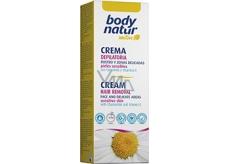 Body Natur Sensitive depilační krém pro depilaci obličeje, podpaží a oblasti bikin s heřmánkem a vitaminem E 50 ml