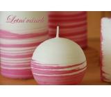 Lima Aromatická špirála Letný vánok sviečka bielo - ružová guľa 100 mm 1 kus
