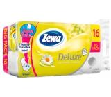 Zewa Deluxe Aqua Tube Delicate Camomile Comfort parfumovaný 3 vrstvový 150 útržkov 16 kusov, rolička, ktorú môžete spláchnuť