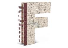 If Alphabooks Note Books Zápisník v tvare písmena F 91 x 14 x 124 mm