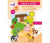 Ditipo Nájdi a dolep Zvieratká stierateľný zošit, samolepky snímateľné, rozvíja logické myslenie, jemnú motoriku pre deti 4-6 rokov 16 strán