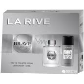 La Rive Brave toaletná voda pre mužov 100 ml + deodorant sprej 150 ml, darčeková sada