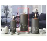 Lima Starlight sviečka šedá / strieborná valec 70 x 150 mm 1 kus