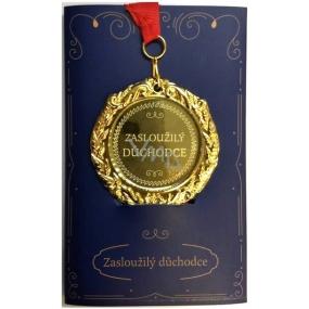 Albi Papierové prianie do obálky Prianie s medailí - Dôchodca W