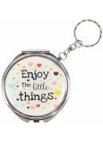 Albi Zrkadielko - kľúčenka s textom Enjoy the little things 6,5 cm